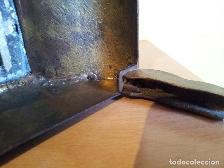 Relojes de carga manual: Reloj frances sobremesa en bronce patinado y marmol ..siglo XIX..CIUDAD DE NEVERS FRANCIA - Foto 13 - 82083716