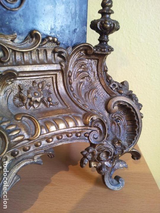 Relojes de carga manual: Reloj frances sobremesa en bronce patinado y marmol ..siglo XIX..CIUDAD DE NEVERS FRANCIA - Foto 31 - 82083716