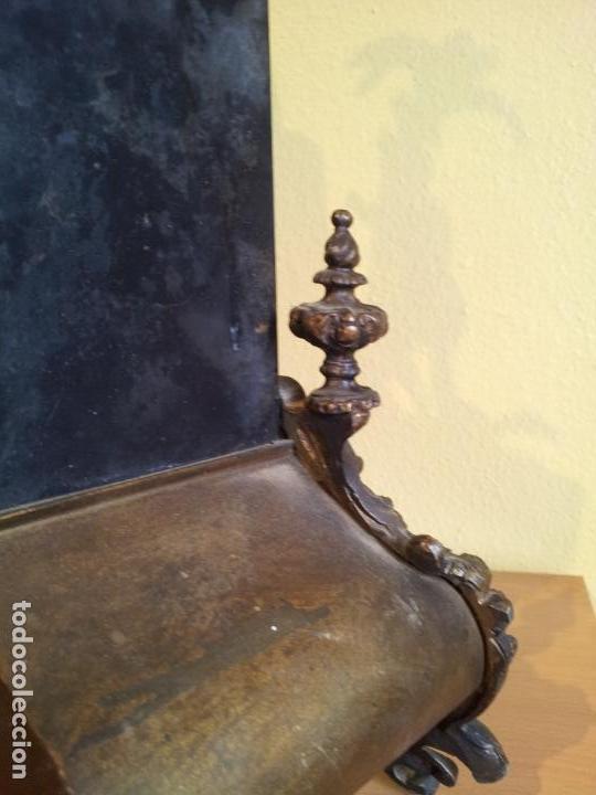 Relojes de carga manual: Reloj frances sobremesa en bronce patinado y marmol ..siglo XIX..CIUDAD DE NEVERS FRANCIA - Foto 52 - 82083716