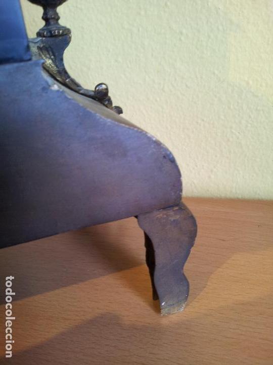 Relojes de carga manual: Reloj frances sobremesa en bronce patinado y marmol ..siglo XIX..CIUDAD DE NEVERS FRANCIA - Foto 61 - 82083716
