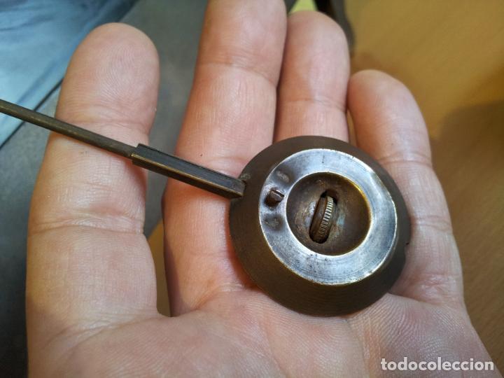 Relojes de carga manual: Reloj frances sobremesa en bronce patinado y marmol ..siglo XIX..CIUDAD DE NEVERS FRANCIA - Foto 71 - 82083716