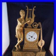 Relojes de carga manual: MAGNIFICO RELOJ DE SOBREMESA DORADO AL MERCURIO. Lote 82299192