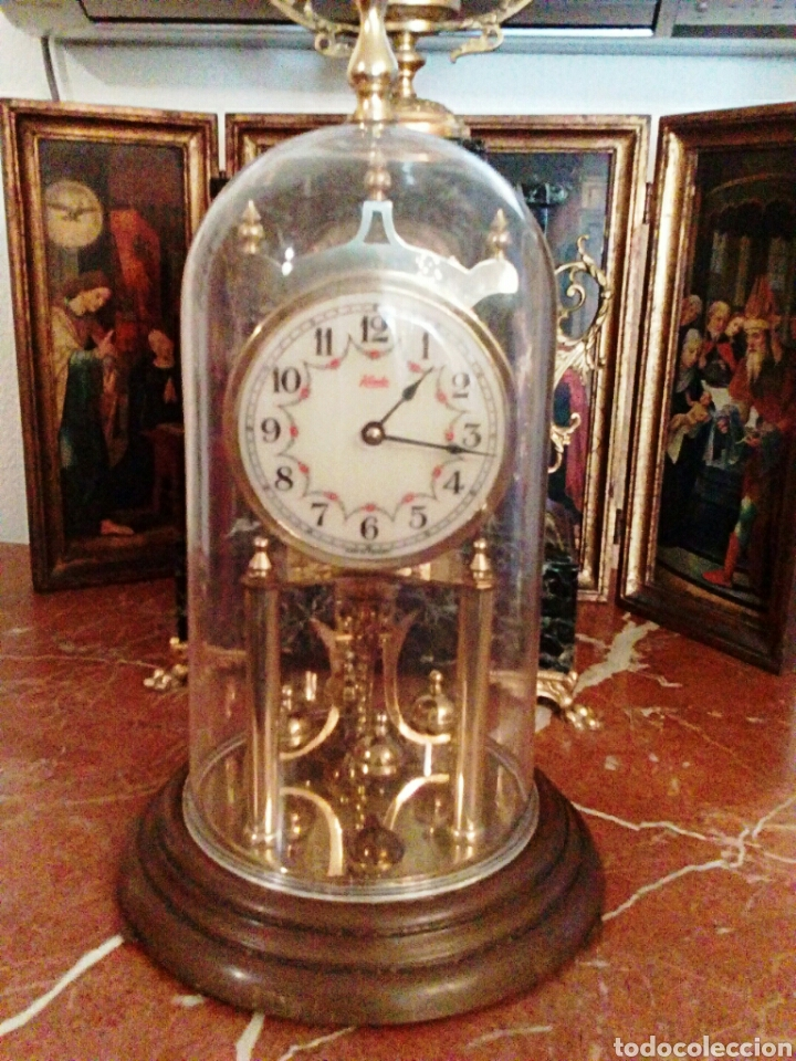 Relojes de carga manual: Reloj Kundo. De sobremesa. De 400 dias, o aniversario. De Carga manual y pendulo de torsion. - Foto 3 - 83262738