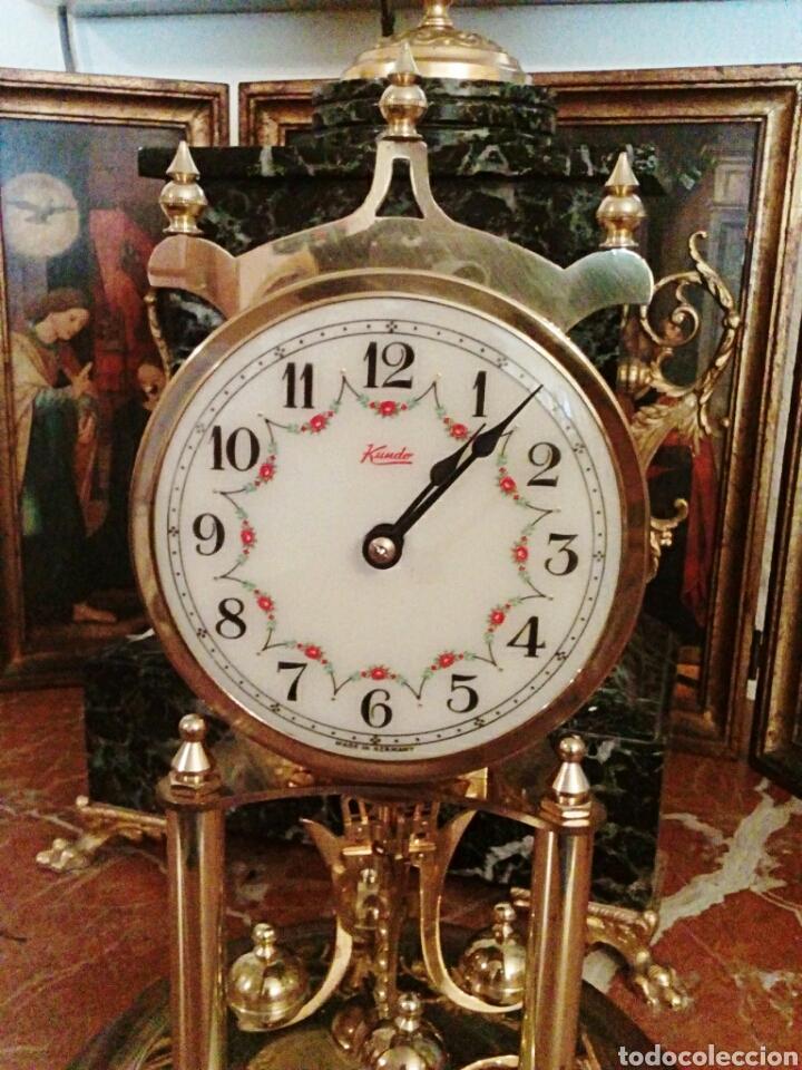 Relojes de carga manual: Reloj Kundo. De sobremesa. De 400 dias, o aniversario. De Carga manual y pendulo de torsion. - Foto 4 - 83262738