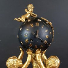 Relojes de carga manual: RELOJ DE SOBREMESA. ESTILO MAPOLEON III. BRONCE Y MARMOL. FRANCIA. SIGLO XIX.. Lote 84164076