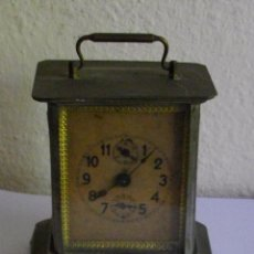 Relojes de carga manual: ANTIGUO RELOJ DESPERTADOR SOBREMESA, CARGA MANUAL , MARCA WURTTEMBERG, NO OPERATIVO, 15 X10 CM. Lote 84499532