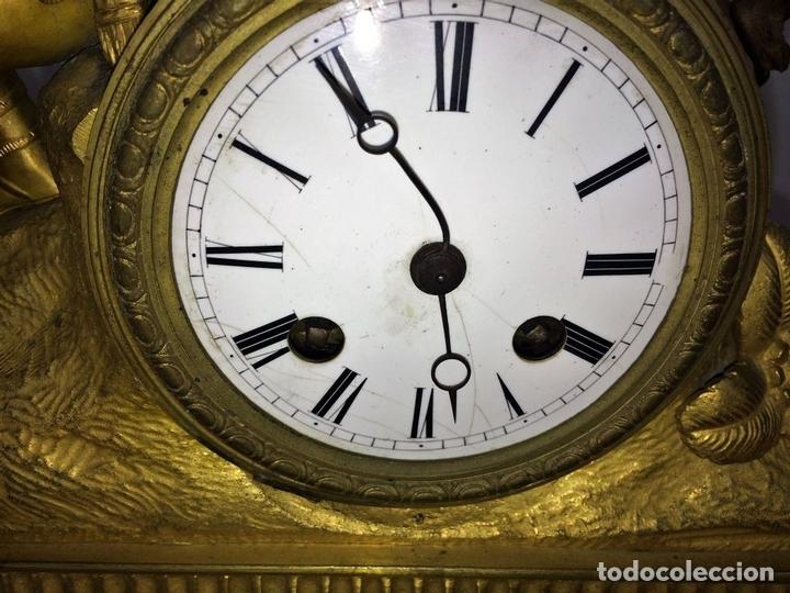 Relojes de carga manual: RELOJ DE REPISA. BRONCE DORADO. ESTILO NAPOLEÓN III. FRANCIA(?). CIRCA 1850 - Foto 6 - 84719384