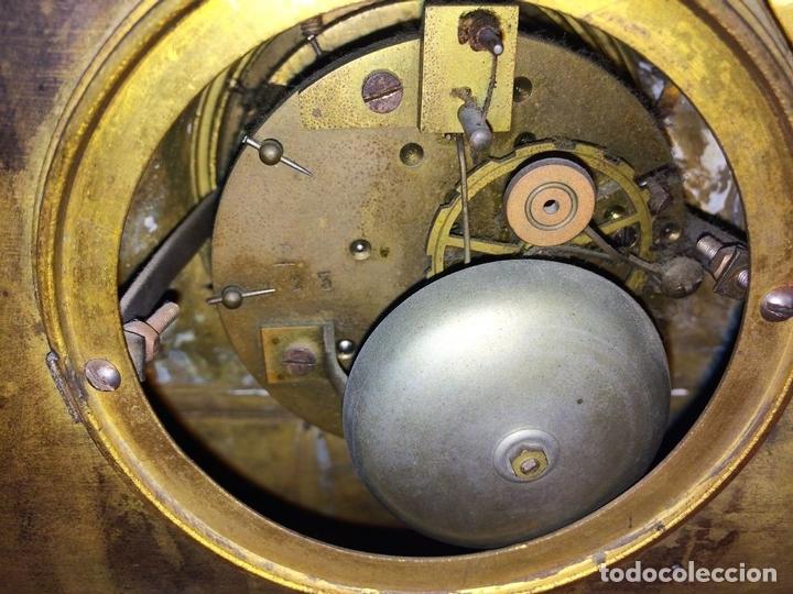 Relojes de carga manual: RELOJ DE REPISA. BRONCE DORADO. ESTILO NAPOLEÓN III. FRANCIA(?). CIRCA 1850 - Foto 11 - 84719384