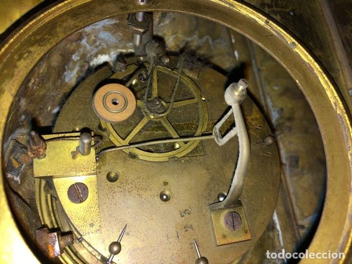 Relojes de carga manual: RELOJ DE REPISA. BRONCE DORADO. ESTILO NAPOLEÓN III. FRANCIA(?). CIRCA 1850 - Foto 12 - 84719384