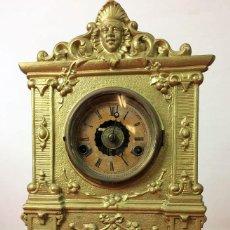 Relojes de carga manual: RELOJ DE REPISA. DE PÉNDULO. AMERICAN CLOCK CO. N. MUELLER. U.S.A. CIRCA 1850. Lote 84839396