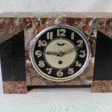 Relojes de carga manual: RELOJ ART DECO EN MARMOL CON MAQUINARIA DE CUERDA. Lote 85269628