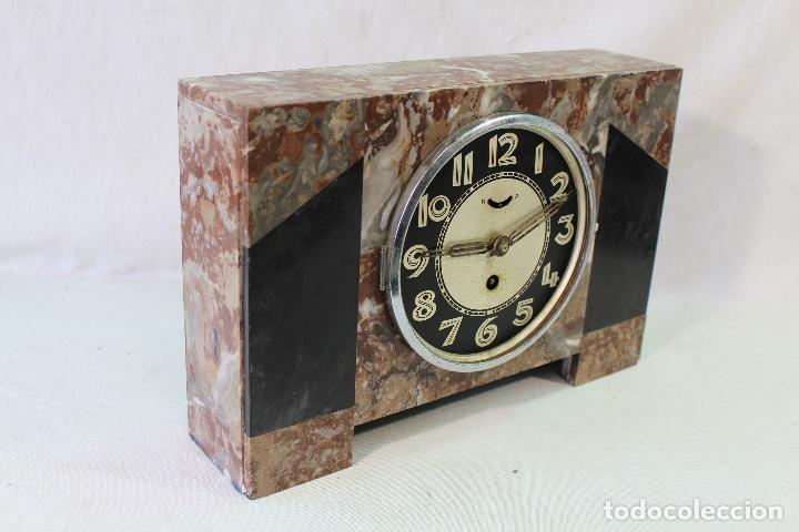 Relojes de carga manual: reloj art deco en marmol con maquinaria de cuerda - Foto 3 - 85269628