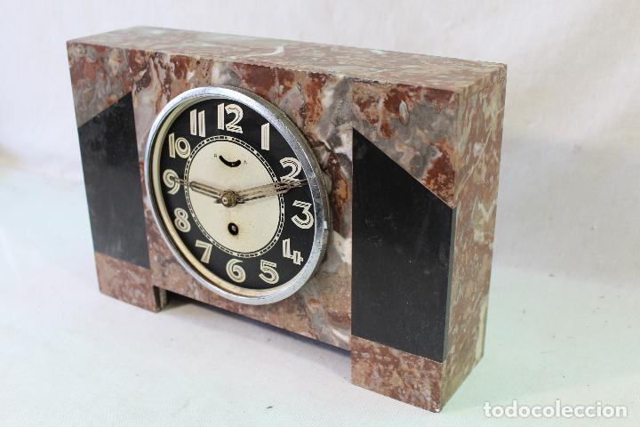 Relojes de carga manual: reloj art deco en marmol con maquinaria de cuerda - Foto 4 - 85269628