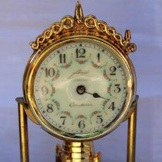 Relojes de carga manual: RELOJ DE SOBREMESA CONTESSA CASA ALEMANA SCHMID EN CRISTAL CON ESFERA DE PORCELANA MODELO ANTIGUO. Lote 85432972