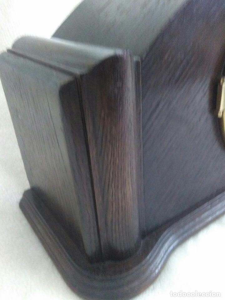 Relojes de carga manual: ANTIGUO RELOJ DE CHIMENEA CON UN GRAN CAJA DE MADERA FABRICADO EN HOLANDA - Foto 7 - 87118608
