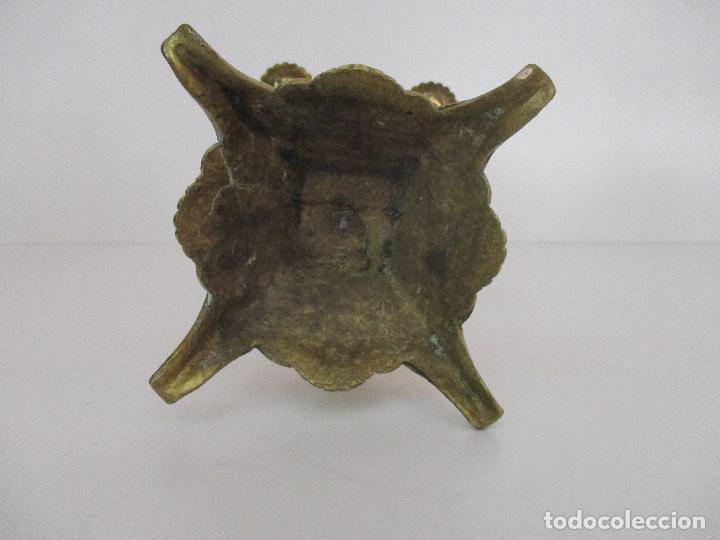 Relojes de carga manual: Antiguo Reloj de Sobremesa - con Guarnición Candelabros - Bronce - Napoleón III - Completo -Funciona - Foto 24 - 87195416
