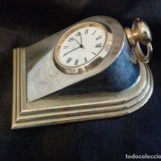 Relojes de carga manual: CURIOSO RELOJ EN FORMA DE CUÑA. Lote 88122708