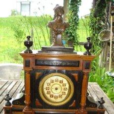Relojes de carga manual: ES UN RARO RELOJ DESPERTADOR DE LA EPOCA NAPOLEON III ES PRECIOSO MIRAR FOTOS. Lote 89754988