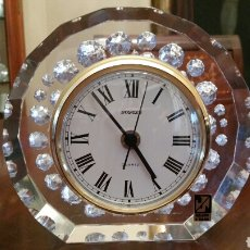 Relojes de carga manual: RELOJ STAIGER. (WEST GERMANY) SOBREMESA. CRISTAL TALLADO A MANO. AÑOS 90. PERFECTO FUNCIONAMIENTO.. Lote 89288340