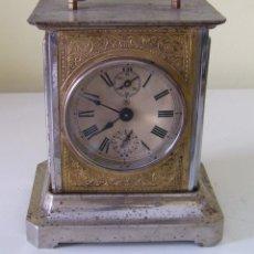 Relojes de carga manual: RELOJ CARRUAJE CON SONERÍA HORAS Y MEDIAS Y DESPERTADOR. Lote 89494152