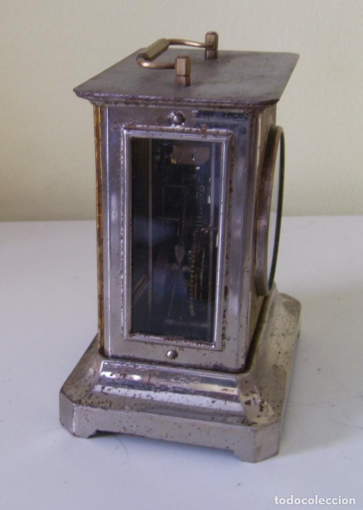 Relojes de carga manual: Reloj carruaje con sonería horas y medias y despertador - Foto 2 - 89494152