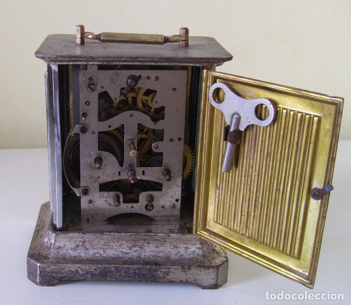 Relojes de carga manual: Reloj carruaje con sonería horas y medias y despertador - Foto 4 - 89494152
