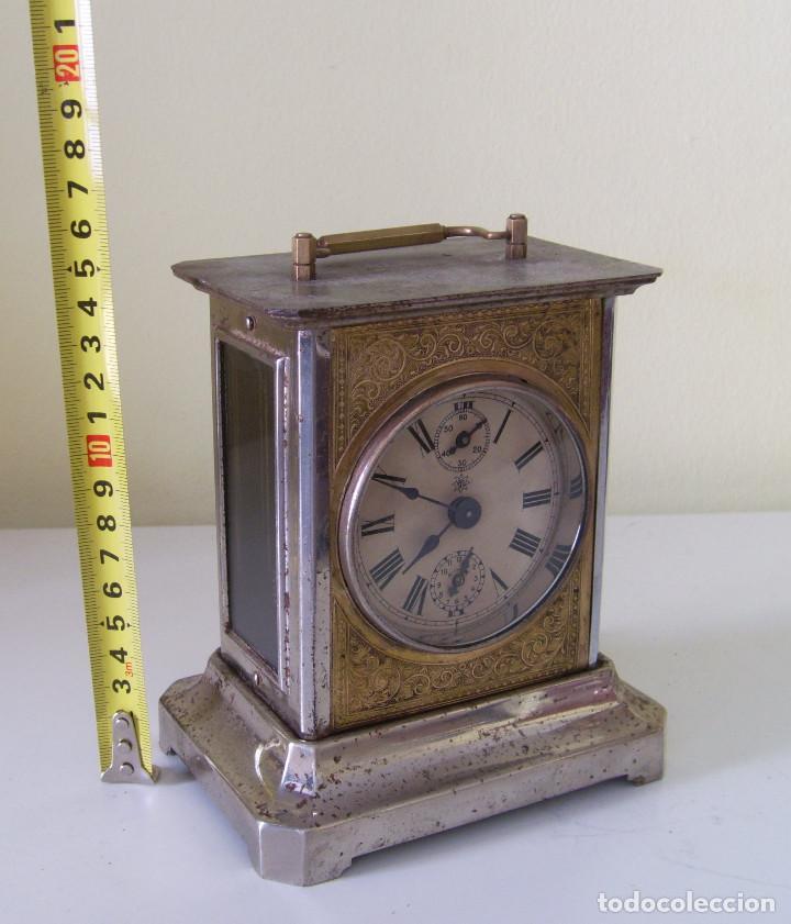 Relojes de carga manual: Reloj carruaje con sonería horas y medias y despertador - Foto 7 - 89494152