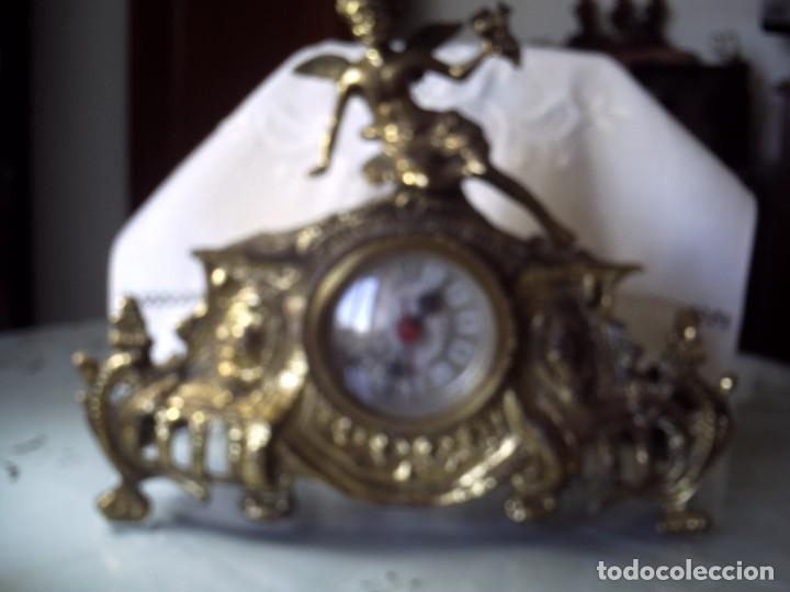 RELOJ LANDEX DE SOBREMESA. CARGA PILA. CARCASA METAL FUNDIDO. (Relojes - Sobremesa Carga Manual)