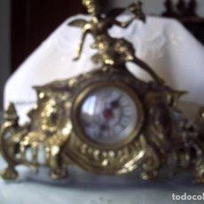 Relojes de carga manual: RELOJ LANDEX DE SOBREMESA. CARGA PILA. CARCASA METAL FUNDIDO.. Lote 91355005