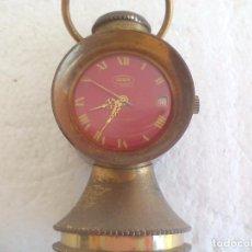 Relojes de carga manual: PEQUEÑO RELOJ DE SOBREMESA OBERON 17JEWELS ANTIMAGNETIC, IMITANDO UN FARO O LAMPARA.. Lote 92098425