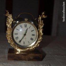 Relojes de carga manual: RELOJ DESPERTADOR DE MESA TITAN TWIN BELL, MECÁNICO, BASE DE MÁRMOL VETEADO. . Lote 92214900