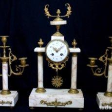 Relojes de carga manual: ELEGANTE RELOJ DE ÉPOCA, FRANCÉS, DE MAQUINA PARÍS, FUNCIONANDO. Lote 92440045