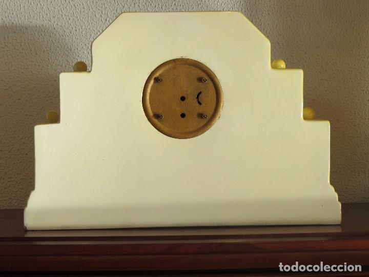 Relojes de carga manual: Reloj sobremesa artdeco con guarnición porcelana - Foto 10 - 93756740
