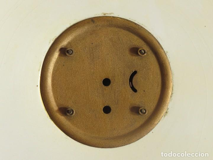 Relojes de carga manual: Reloj sobremesa artdeco con guarnición porcelana - Foto 11 - 93756740