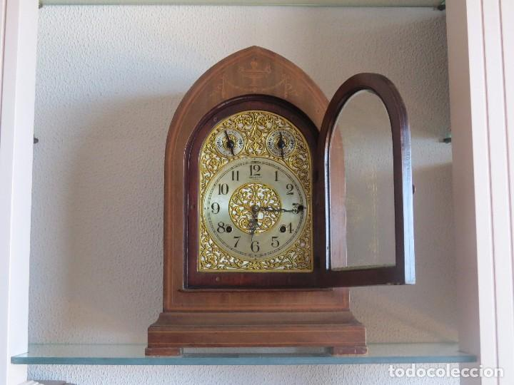 Relojes de carga manual: ANTIGUO RELOJ SONERIA 8 CAMPAN AS MARCA HIERRO Y CIA. HABANA HECHO EN USA - Foto 3 - 93758615