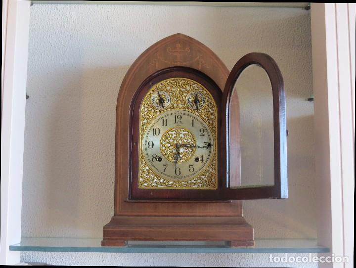 Relojes de carga manual: ANTIGUO RELOJ SONERIA 8 CAMPAN AS MARCA HIERRO Y CIA. HABANA HECHO EN USA - Foto 5 - 93758615