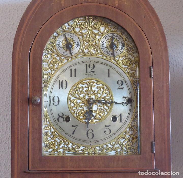 Relojes de carga manual: ANTIGUO RELOJ SONERIA 8 CAMPAN AS MARCA HIERRO Y CIA. HABANA HECHO EN USA - Foto 7 - 93758615