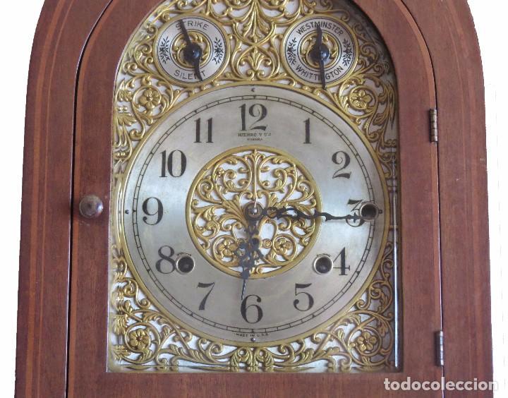 Relojes de carga manual: ANTIGUO RELOJ SONERIA 8 CAMPAN AS MARCA HIERRO Y CIA. HABANA HECHO EN USA - Foto 11 - 93758615
