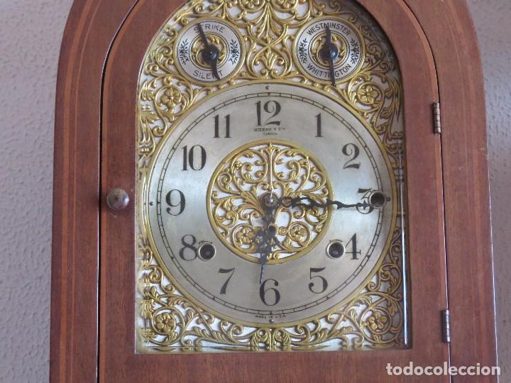 Relojes de carga manual: ANTIGUO RELOJ SONERIA 8 CAMPAN AS MARCA HIERRO Y CIA. HABANA HECHO EN USA - Foto 12 - 93758615