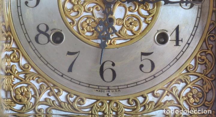 Relojes de carga manual: ANTIGUO RELOJ SONERIA 8 CAMPAN AS MARCA HIERRO Y CIA. HABANA HECHO EN USA - Foto 13 - 93758615