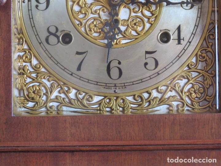 Relojes de carga manual: ANTIGUO RELOJ SONERIA 8 CAMPAN AS MARCA HIERRO Y CIA. HABANA HECHO EN USA - Foto 14 - 93758615