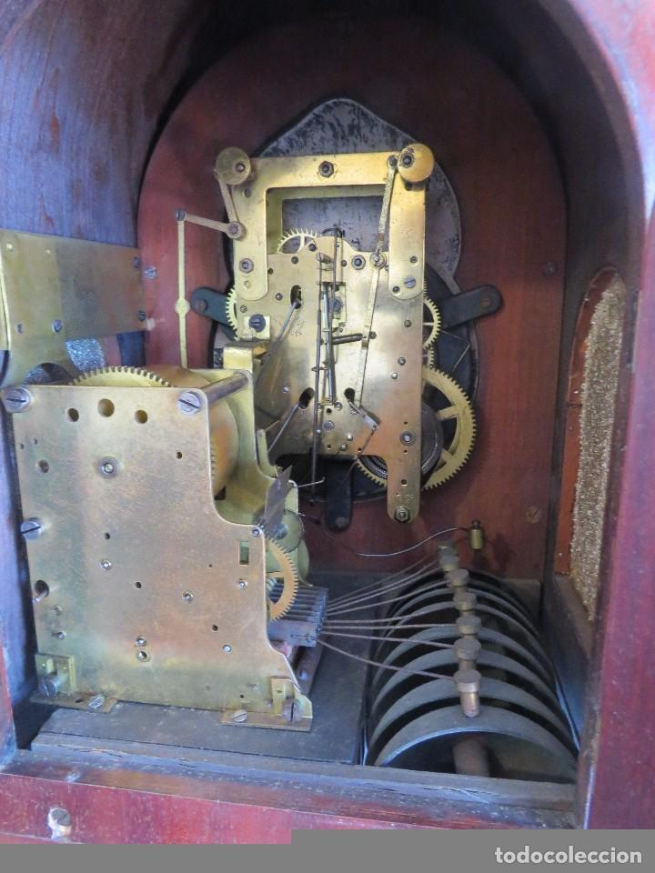 Relojes de carga manual: ANTIGUO RELOJ SONERIA 8 CAMPAN AS MARCA HIERRO Y CIA. HABANA HECHO EN USA - Foto 20 - 93758615