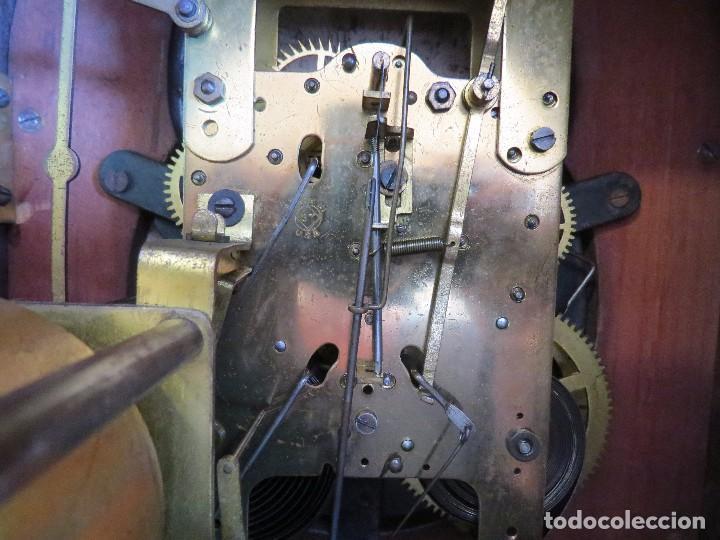 Relojes de carga manual: ANTIGUO RELOJ SONERIA 8 CAMPAN AS MARCA HIERRO Y CIA. HABANA HECHO EN USA - Foto 21 - 93758615