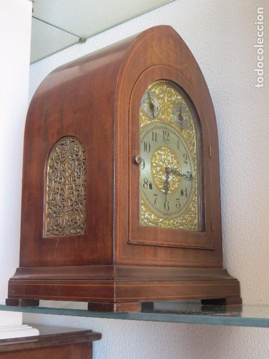 Relojes de carga manual: ANTIGUO RELOJ SONERIA 8 CAMPAN AS MARCA HIERRO Y CIA. HABANA HECHO EN USA - Foto 23 - 93758615