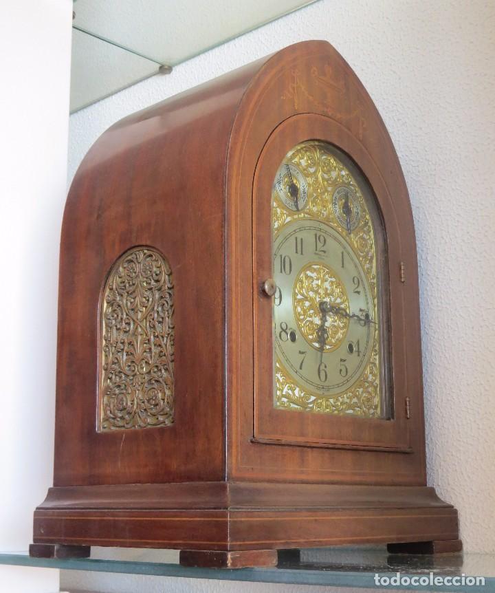 Relojes de carga manual: ANTIGUO RELOJ SONERIA 8 CAMPAN AS MARCA HIERRO Y CIA. HABANA HECHO EN USA - Foto 24 - 93758615