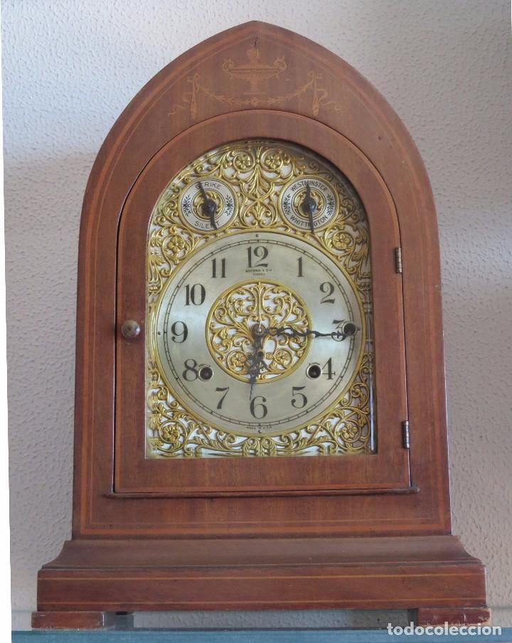 Relojes de carga manual: ANTIGUO RELOJ SONERIA 8 CAMPAN AS MARCA HIERRO Y CIA. HABANA HECHO EN USA - Foto 25 - 93758615