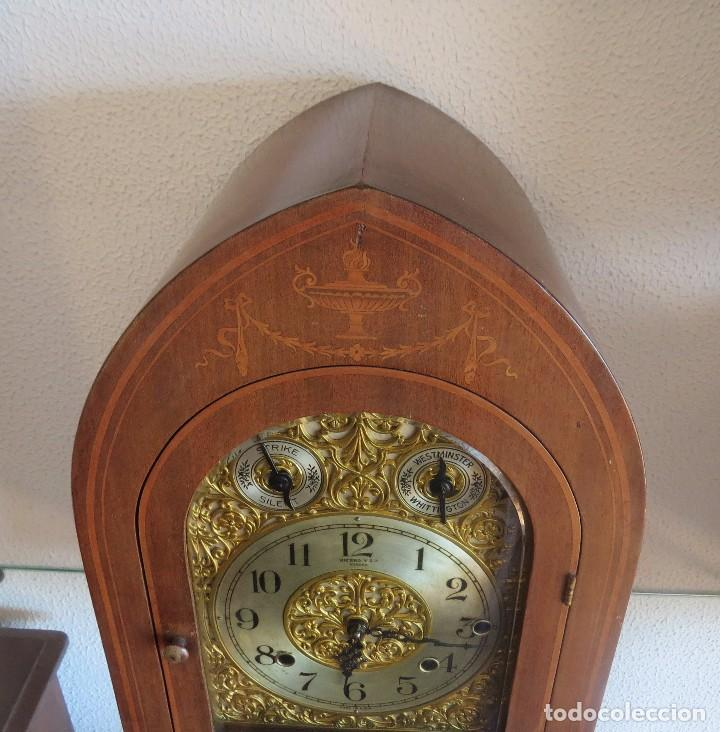 Relojes de carga manual: ANTIGUO RELOJ SONERIA 8 CAMPAN AS MARCA HIERRO Y CIA. HABANA HECHO EN USA - Foto 27 - 93758615