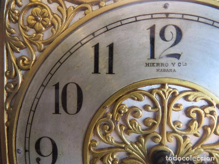 Relojes de carga manual: ANTIGUO RELOJ SONERIA 8 CAMPAN AS MARCA HIERRO Y CIA. HABANA HECHO EN USA - Foto 30 - 93758615