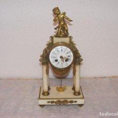 Relojes de carga manual: RELOJ BRONCE Y MARMOL FRANCES. Lote 94187705
