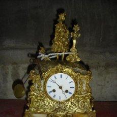 Relojes de carga manual: MUY BONITO RELOJ IMPERIO EN BRONDE DORADO AL ORO FINO EN ESTADO DE MARCHA FUNCIONANDO. Lote 100017278